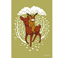 Deer Rider Photographic Print