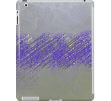 Abract Cement and Yellow Piping Design iPad Case/Skin