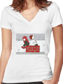 Scarlet and Matilda T Shirt Women's Fitted V-Neck T-Shirt