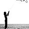 The little girl with the kite by Barbara  Corvino