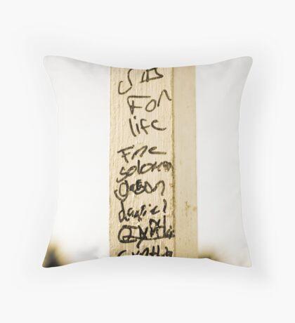 Post-Modern Sleaze Throw Pillow