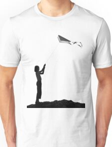 The little girl with the kite Unisex T-Shirt