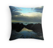 Rockpool Sunset at Lorne Throw Pillow