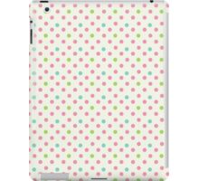 Vintage pattern with polka dots iPad Case/Skin