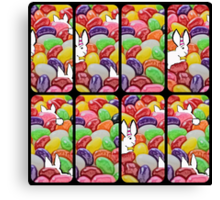 The Easter bunny and the jelly bean invasion Canvas Print