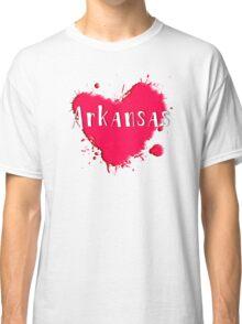 Arkansas Splash Heart Arkansas Classic T-Shirt