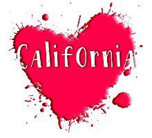 California Splash Heart California Photographic Print