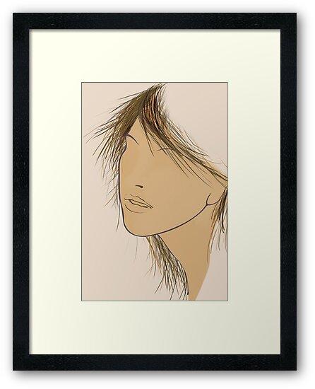 Illustration Girl's Face by Steve Malcomson