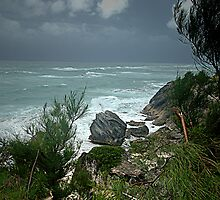 Hurricane Passes by Bermuda by triciamary