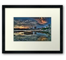 Newcastle Sunset HDR Framed Print