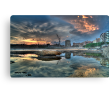 Newcastle Sunset HDR Metal Print