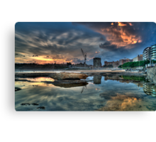 Newcastle Sunset HDR Canvas Print