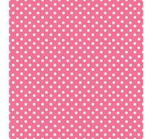 Vintage pink pattern with polka dots Photographic Print