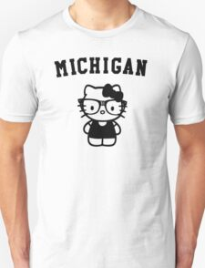 Michigan Hipster Kitty T-Shirt