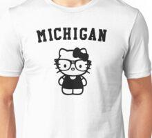 Michigan Hipster Kitty Unisex T-Shirt