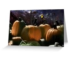 Four Painted Pumpkins Greeting Card