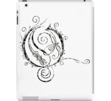 LATTICE LETTER O - destroyed black iPad Case/Skin