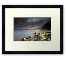 1143-Siberian Dawn Framed Print