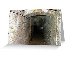 Ghostly Mist and Orbs - Coalhouse Fort Essex Greeting Card