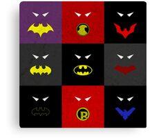Minimalist Bat Family Canvas Print
