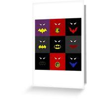 Minimalist Bat Family Greeting Card