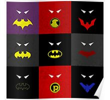 Minimalist Bat Family Poster