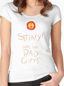 Firefly / Serenity - Shiny, lets be bad guys! Women's Fitted Scoop T-Shirt