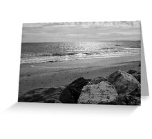 Barton on Sea, Waves and Rocks, Sussex, UK Greeting Card