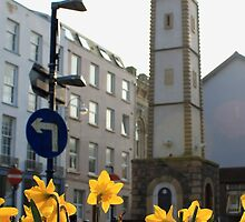Clock Tower & Daffodils by GreyFeatherPhot