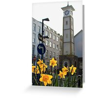 Clock Tower & Daffodils Greeting Card