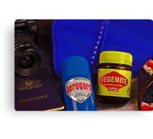 Aussie Travel Essentials  Canvas Print