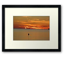Sunset on the Beach Framed Print
