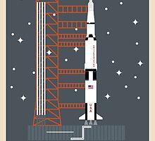 Saturn V (Night) by Frank Michael Sanchez
