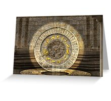 The vault of Time Greeting Card