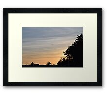 Birds Under a Setting Sun Framed Print