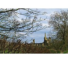 Byland Abbey from the Oldstead Road Photographic Print
