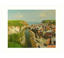 East Coast Village of Staithes Art Print