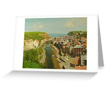 East Coast Village of Staithes Greeting Card