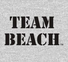 TEAM BEACH Basic Tees, Tanks, & Hoodies (Black Text) One Piece - Long Sleeve