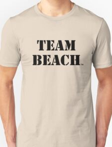 TEAM BEACH Basic Tees, Tanks, & Hoodies (Black Text) T-Shirt