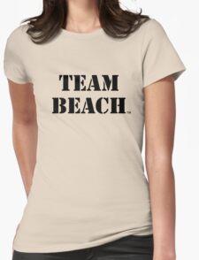 TEAM BEACH Basic Tees, Tanks, & Hoodies (Black Text) Womens Fitted T-Shirt