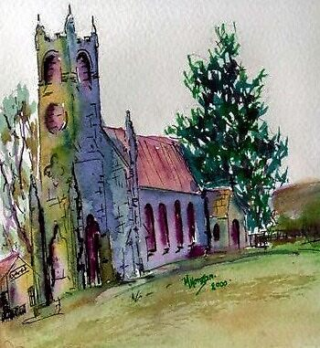 St Mary's Church, Woodend, Victoria Australia by Margaret Morgan (Watkins)