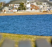 Park Bench Beach Houses by sbackman