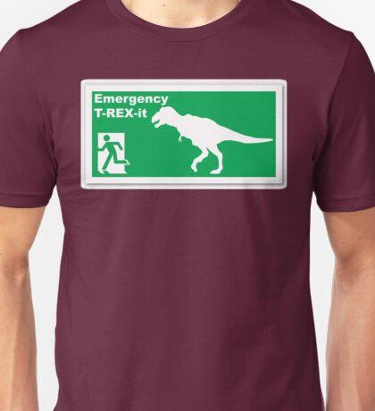Emergency T-rex-it Unisex T-Shirt