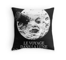 A Trip to the Moon (Le Voyage Dans La Lune)  Throw Pillow