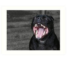 Striking Yawn Art Print
