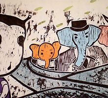 Meeting the Elephant Family by Ayu Tomikawa