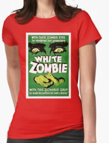 White Zombie (Vintage Movie Poster) Womens Fitted T-Shirt