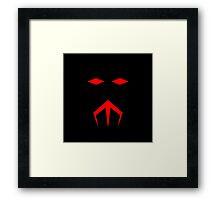 Minimalist Black Manta Framed Print