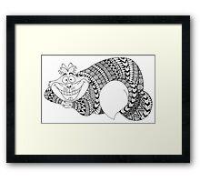 "Disney ""Cheshire Cat"" in Zentangle Patterns Framed Print"